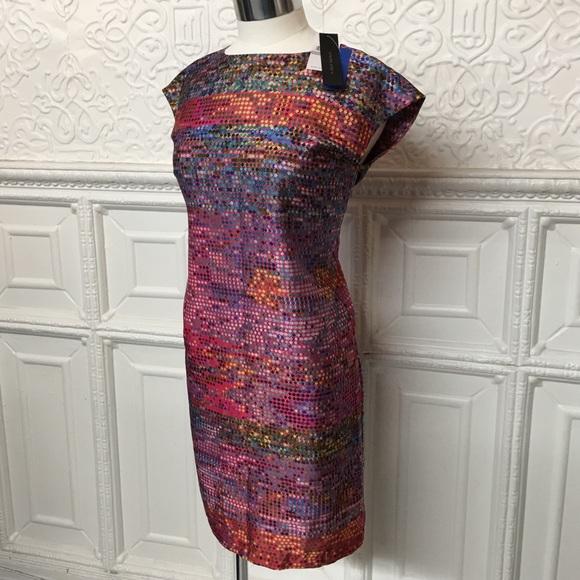 Cynthia Steffe Dresses & Skirts - Cynthia Steffe Multi Print Silk Dress Sz 0 NWT🎉